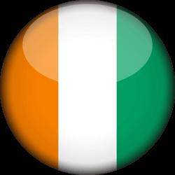 Côte d' Ivoire flag clipart.