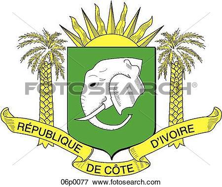 Clip Art of cote d'ivoire 06p0077.
