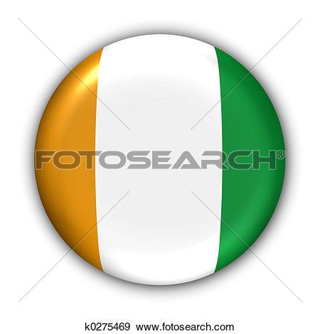 Stock Photograph of Cote D Ivoire/Ivory Coast Flag k0275469.