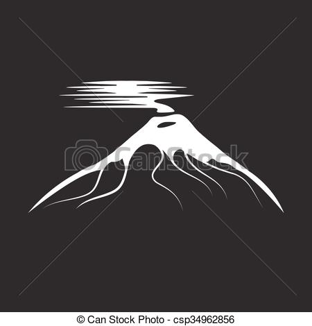 Clipart Vector of vector abstract illustration of volcano Cotopaxi.