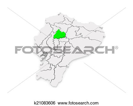 Stock Illustration of Map of Cotopaxi. Ecuador. k21083606.