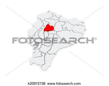 Stock Illustration of Map of Cotopaxi. Ecuador. k20972738.