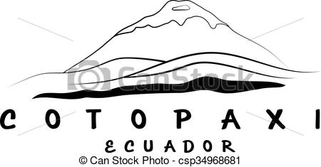 Vector of vector abstract illustration of volcano Cotopaxi in.