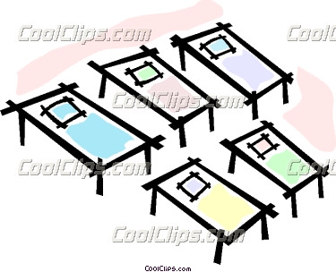 Beds And Cots Clipart.
