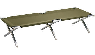 Army cot clipart.
