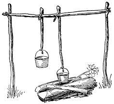 Pots and Hangers Clipart 640 x 581.