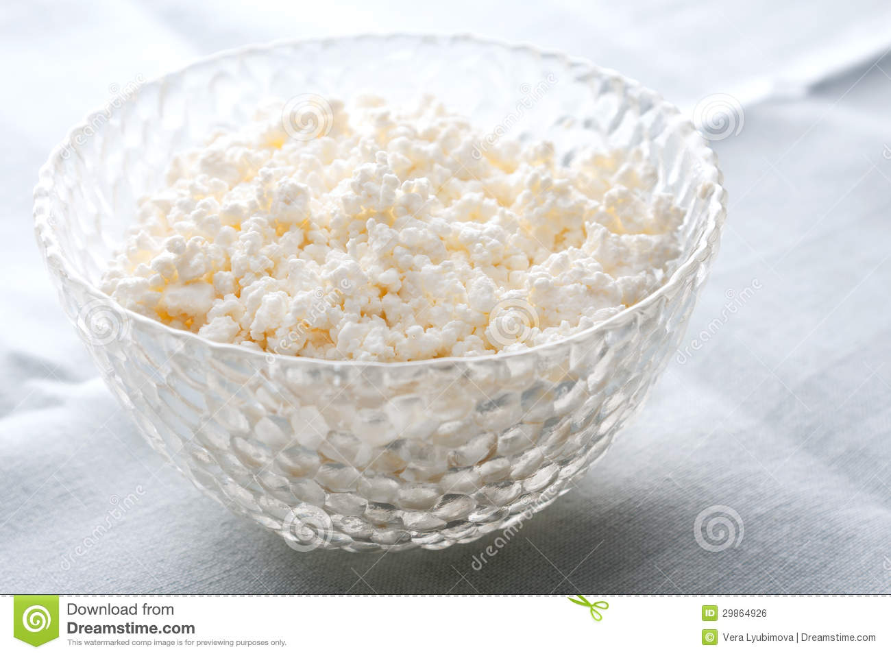Bowl Of Creamy Cottage Cheese Royalty Free Stock Image.