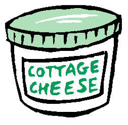 Clipart cottage cheese.
