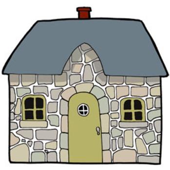 Cozy Cottages Clip Art.