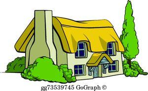 Cottage Clip Art.
