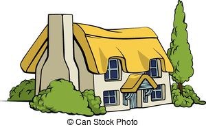 Cottage house clipart.