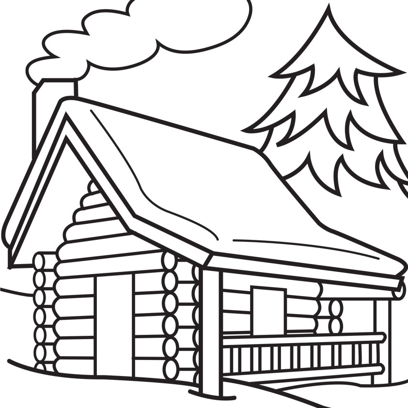 Free Cottage Clipart Black And White, Download Free Clip Art.