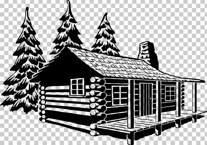 Log Cabin Black And White Cottage PNG, Clipart, Angle, Art.