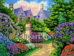 with a Flower Garden Royalty Free Clipart Picture.