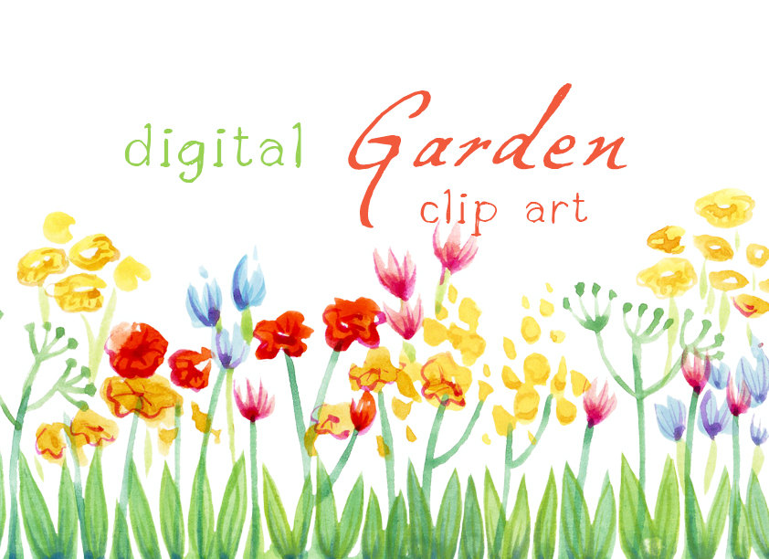 Free cottage garden clipart images.