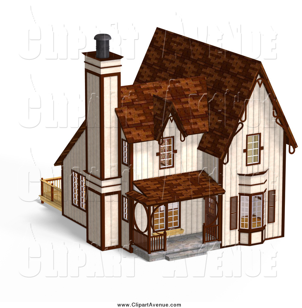 Royalty Free Stock Avenue Designs of Cottages.