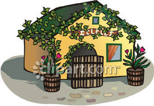 Free Clipart Cottages.