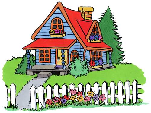 Clip Art of Houses, Cottages & Homes.