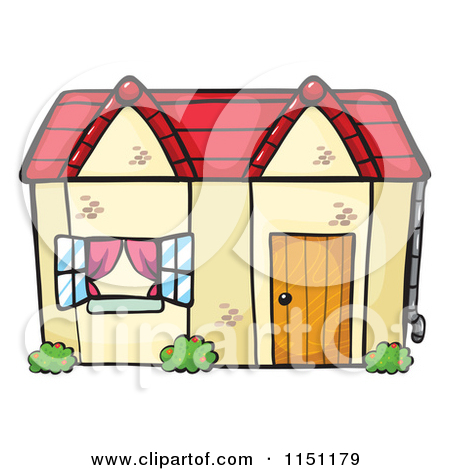 Clipart of a Cottage House.