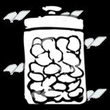 A Beka Book :: Clip Art :: Jar of Cotton Balls—with lid.