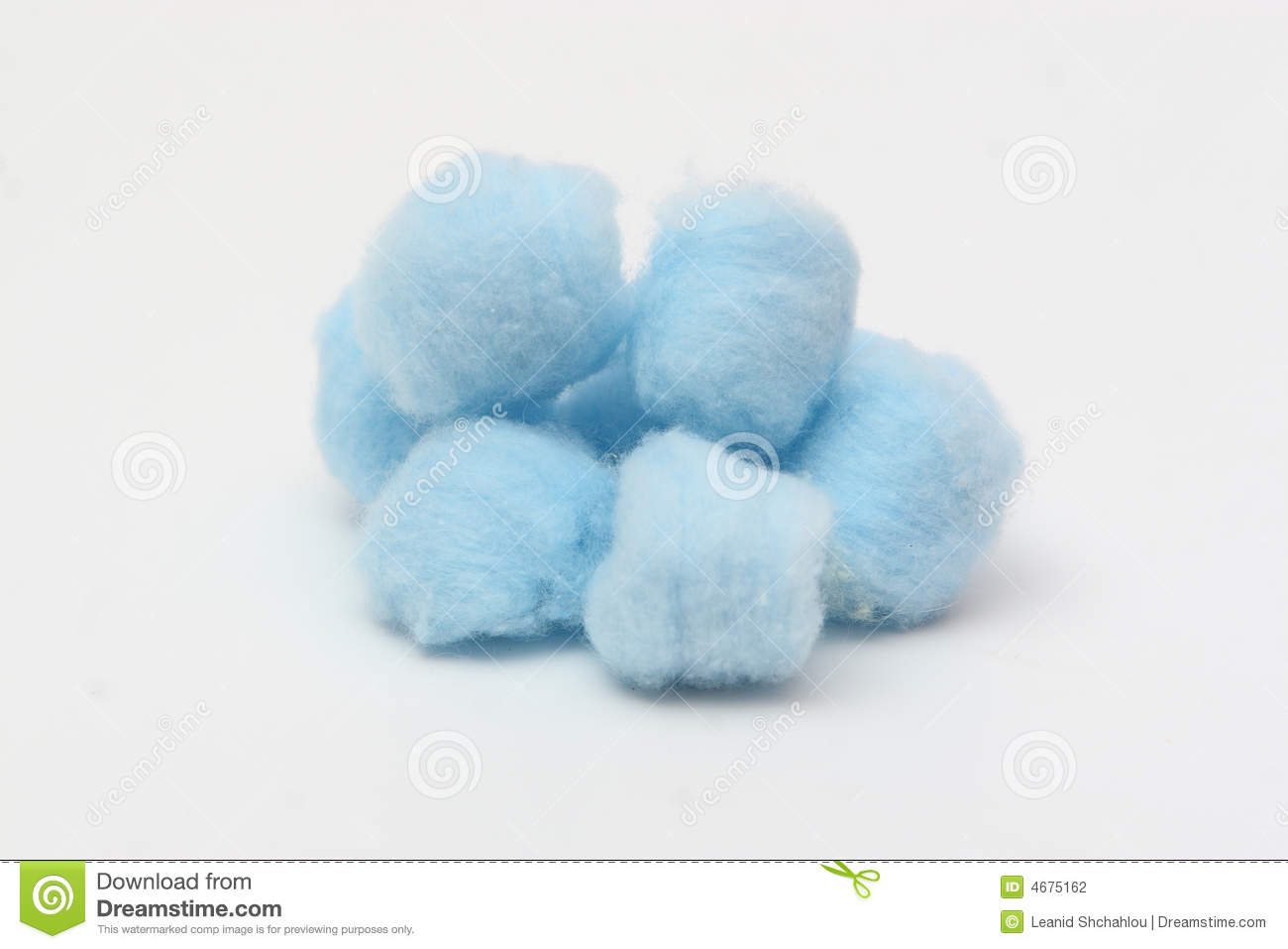 Blue Hygienic Cotton Balls Stock Photography.
