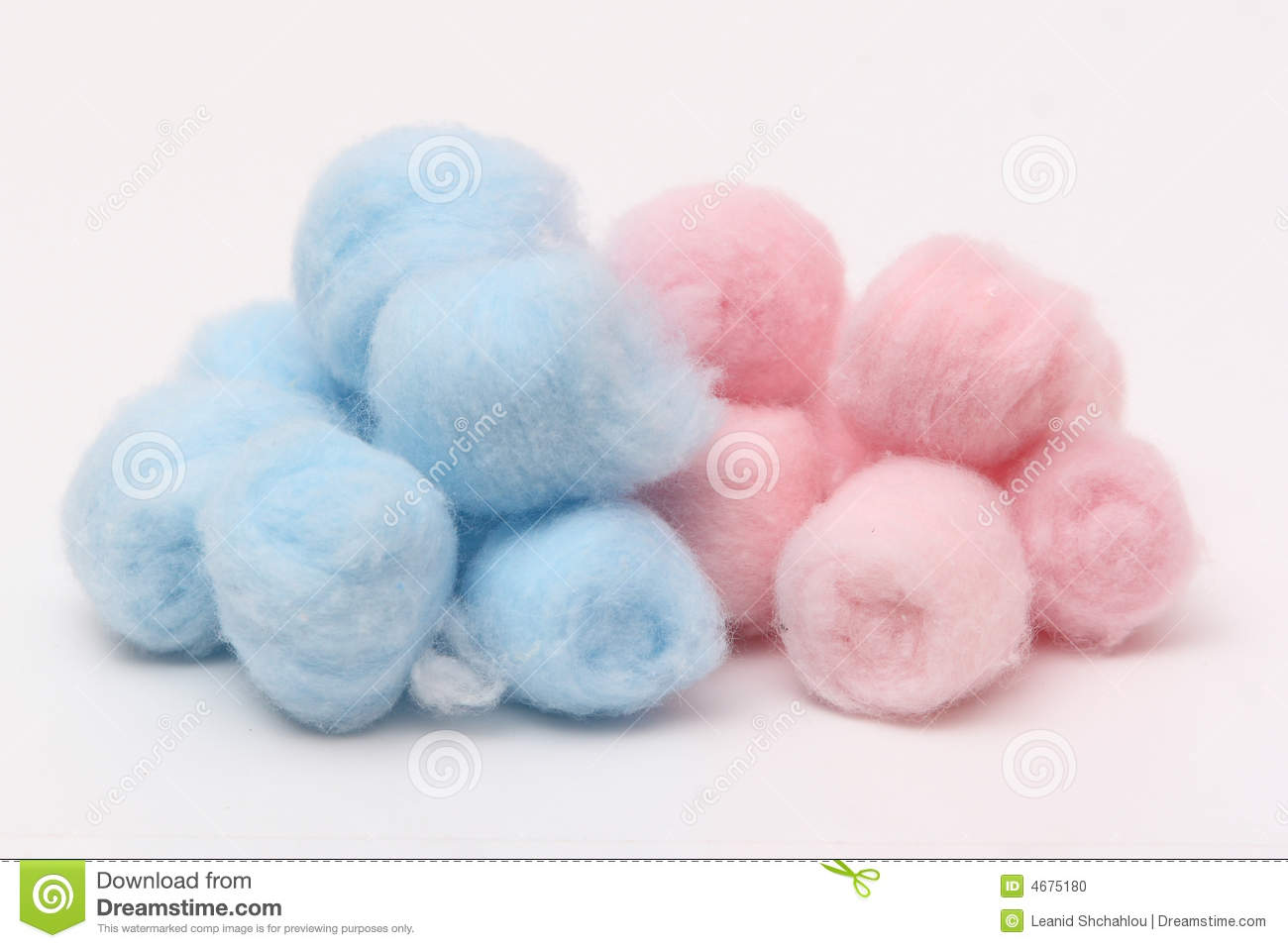Pink Hygienic Cotton Balls Royalty Free Stock Images.