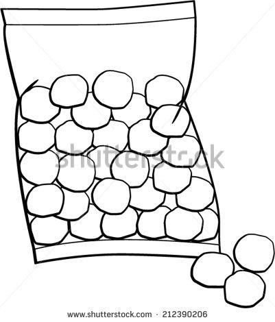 Cotton Balls Bag Stock Vector 212390206.