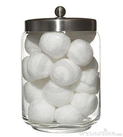 Cotton Ball Clipart.