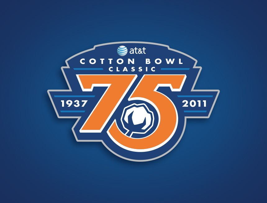 AT&T Cotton Bowl 75th Anniversary Logo.