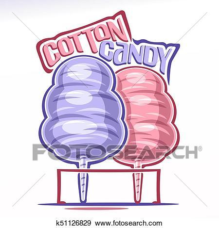 Vector logo for Cotton Candy Clip Art.