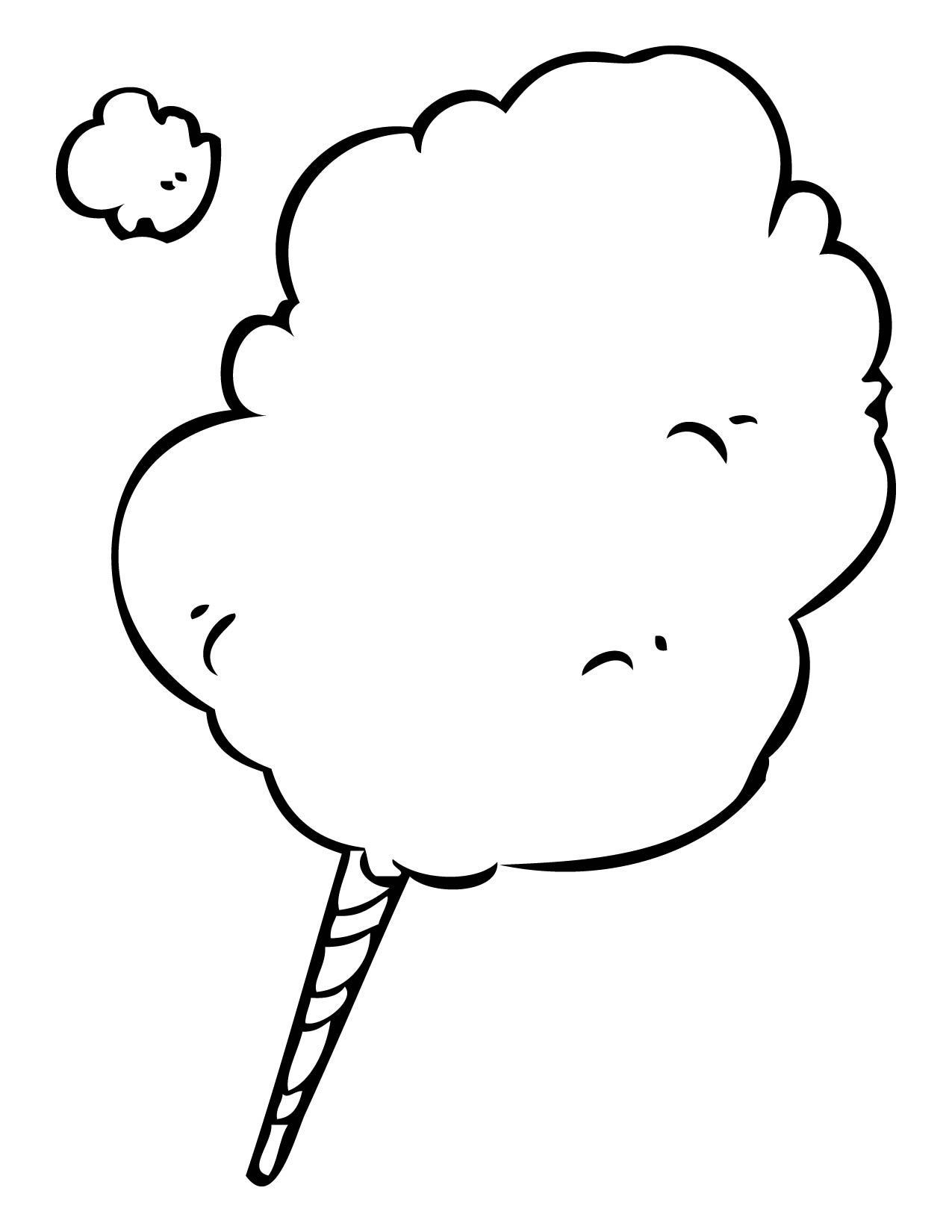 Cotton Candy Clipart Black And White.