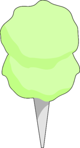 Green Cotton Candy Clip Art at Clker.com.