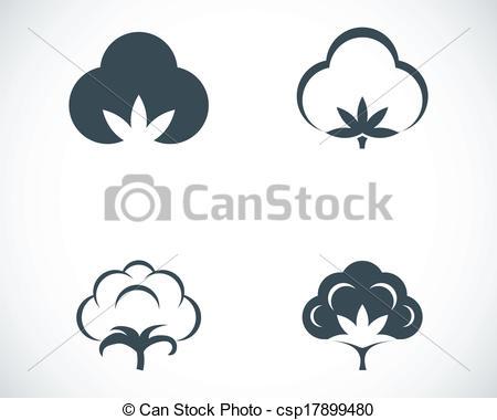 Cotton flower clipart.