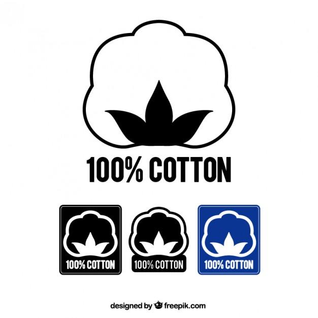 100% cotton labels Vector.
