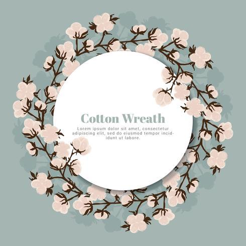 Vector Cotton Wreath.