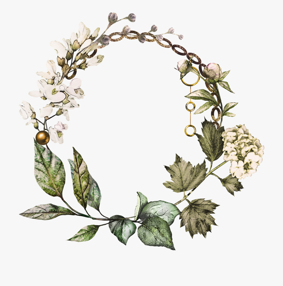 Clipart Forest Wreath.