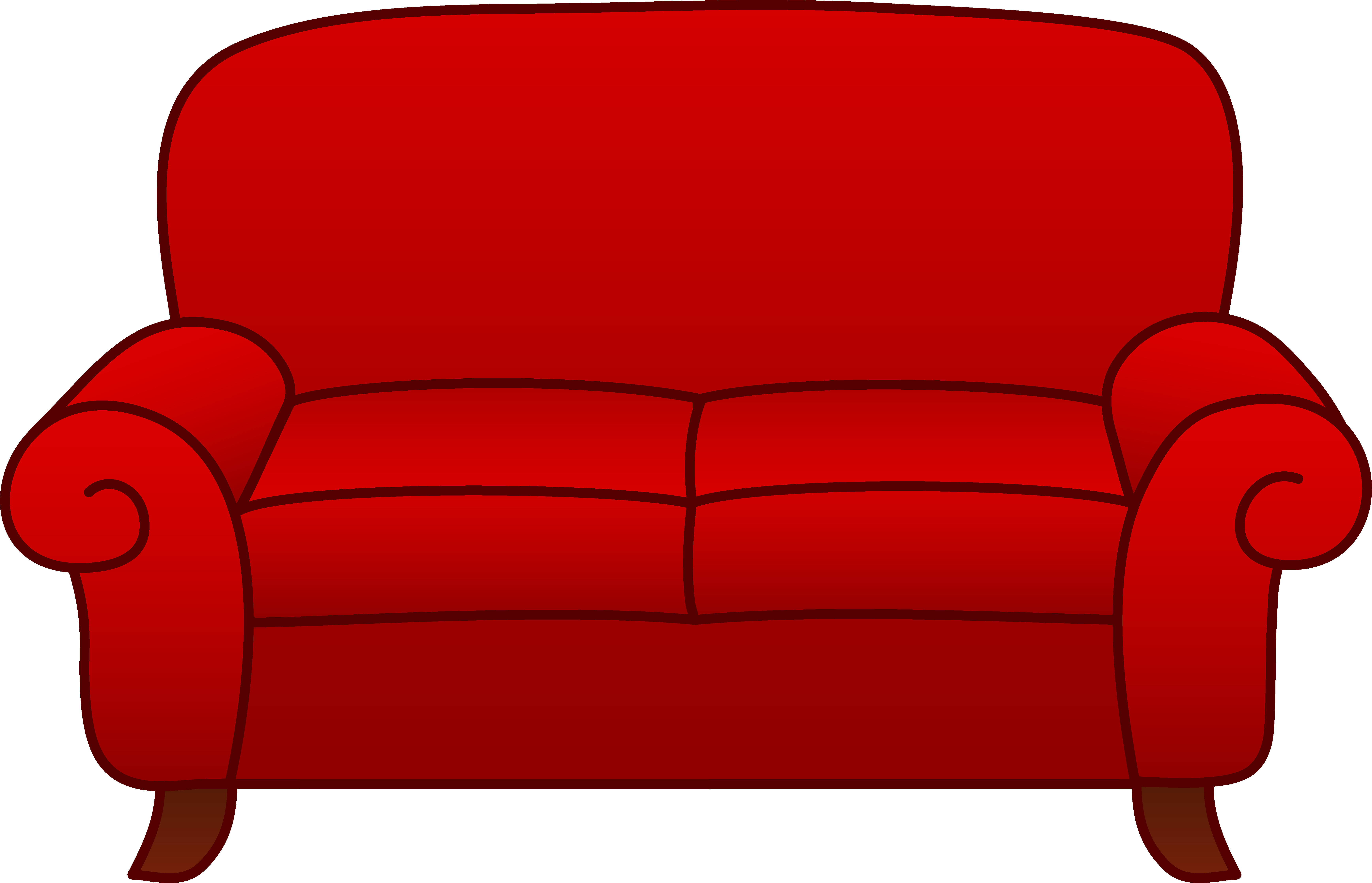 Leather sofa clipart #4