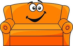 Cartoon couch clipart.
