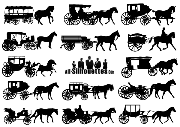 Free clipart coach and horses.