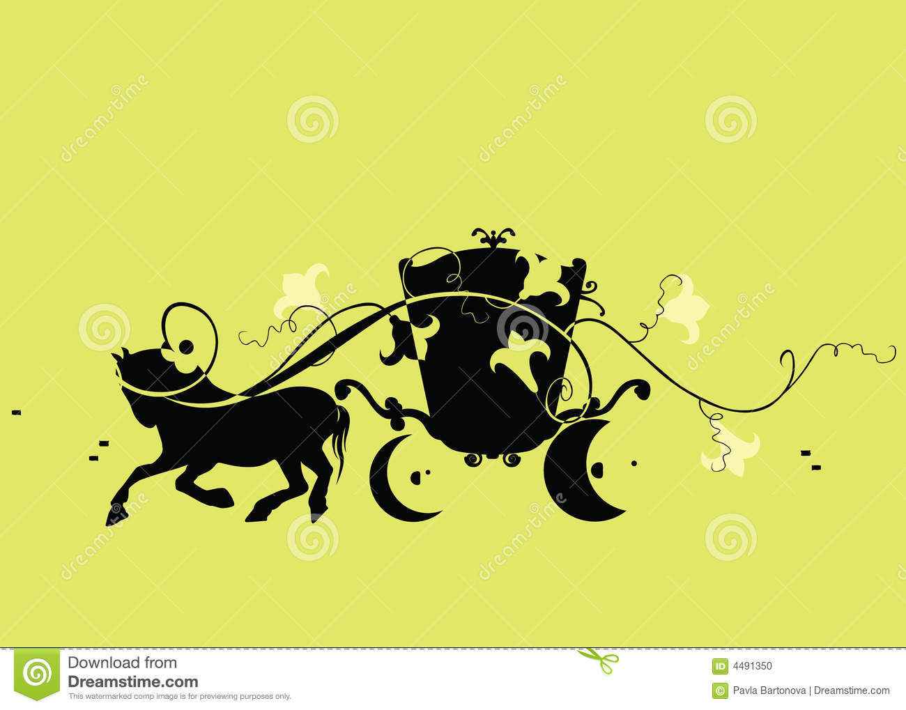 Couch Horse At A Trot (vector) Stock Photo.
