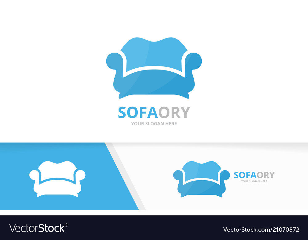 Sofa and bed logo combination couch and.