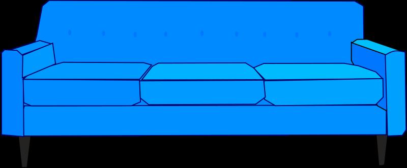 Free Clipart: Blue Sofa.
