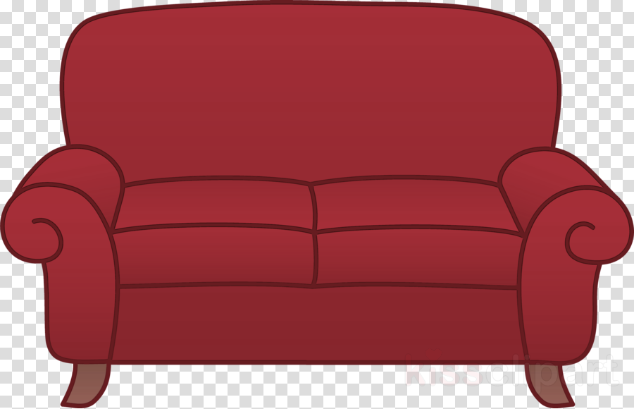 furniture couch red loveseat outdoor sofa clipart.