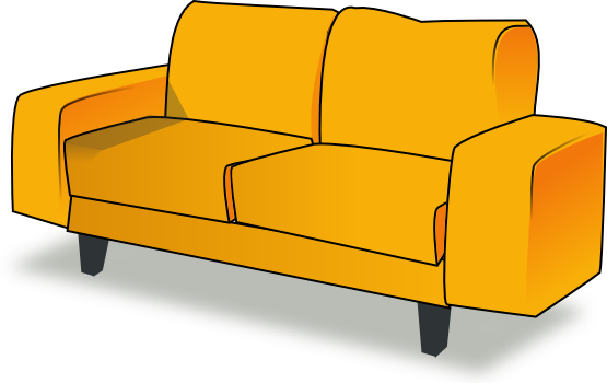 Free to Use Public Domain Couch Clip Art.
