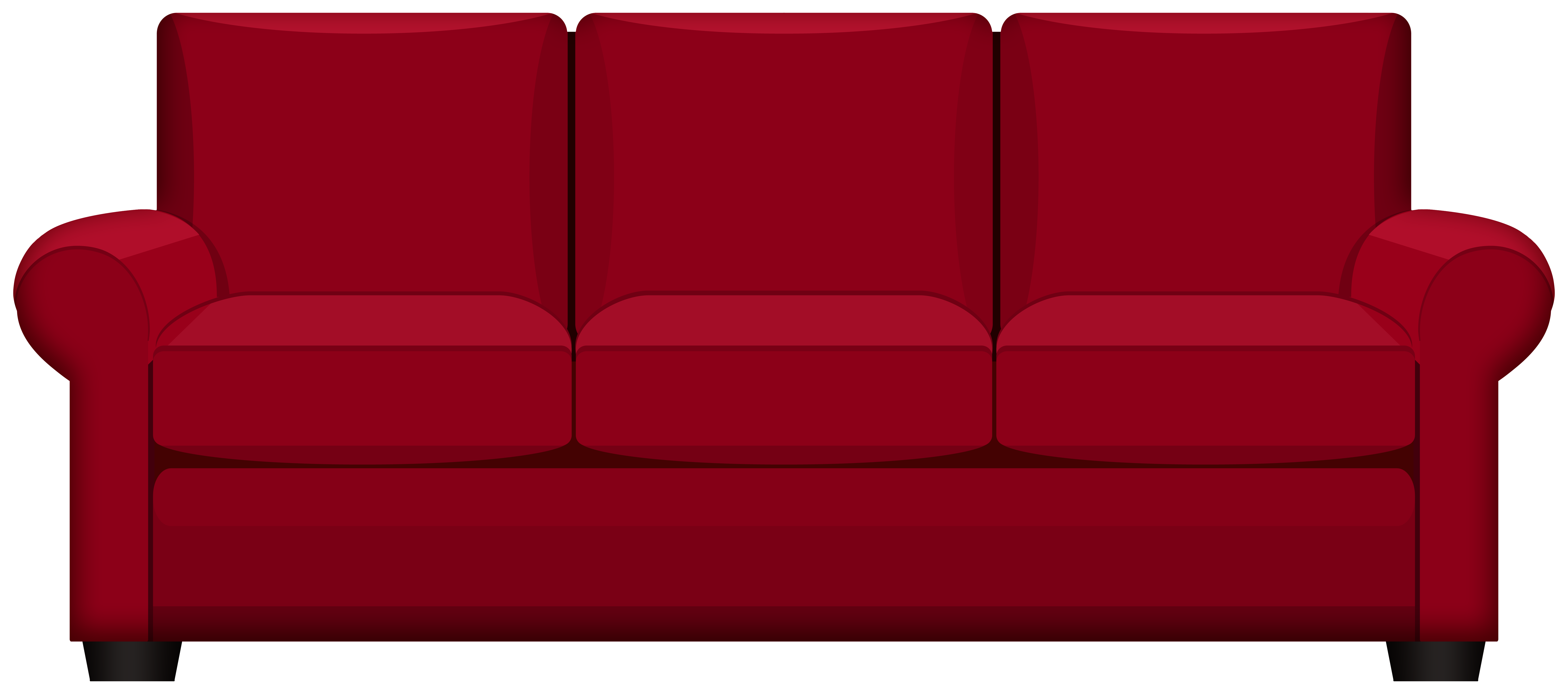 Red Sofa PNG Clipart.
