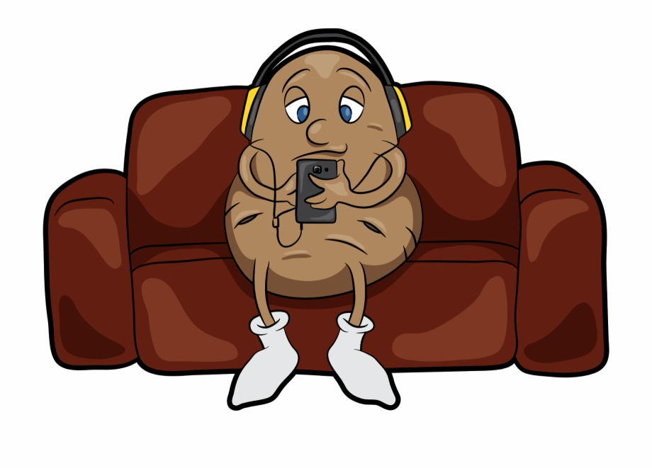 Lazy Clipart Couch Tv Couch Potato Cartoon Png.