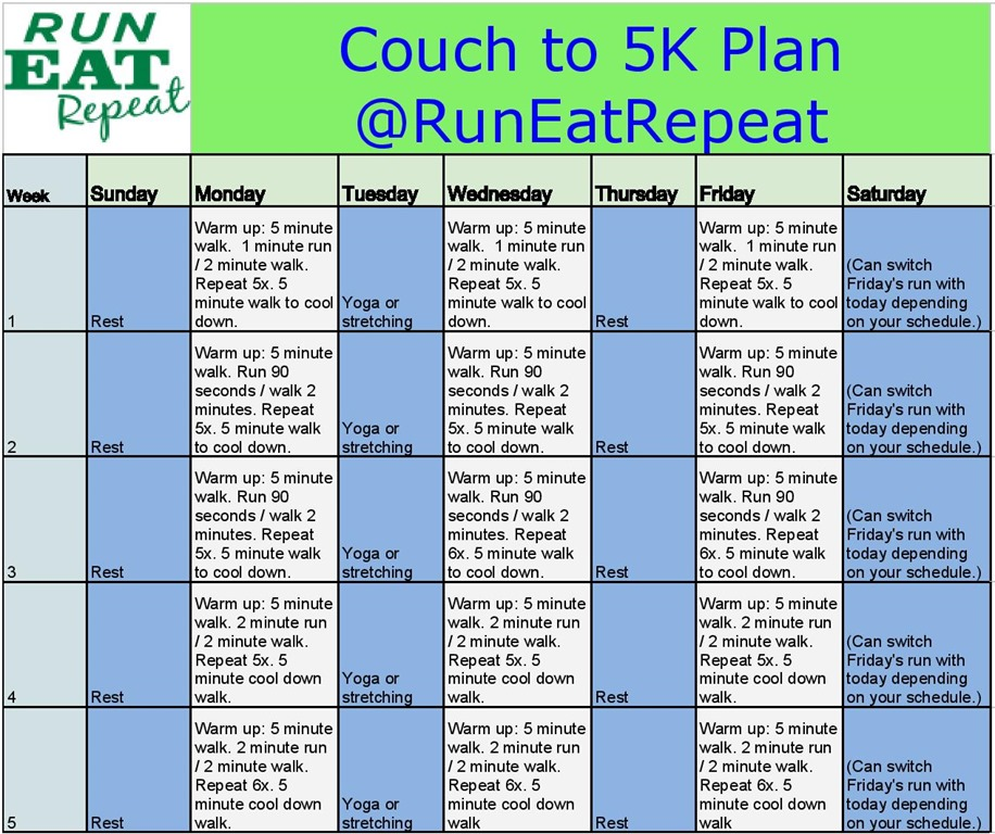 Run a 5K Training Plan for New Runners.