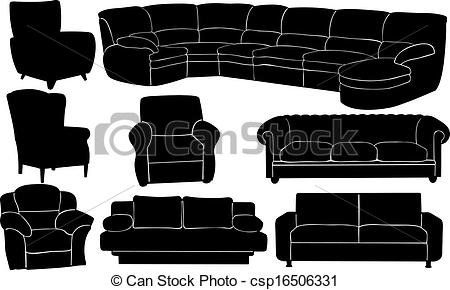 Vectors of couches.