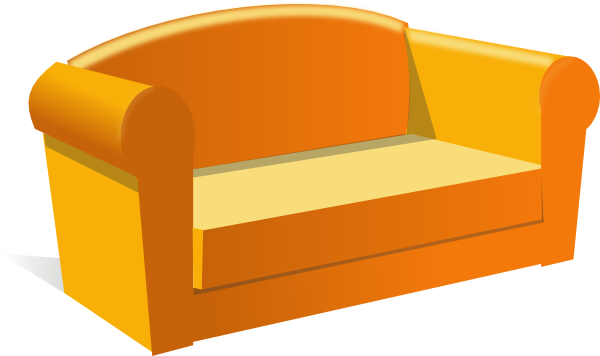 Clip Art Green Couches Clipart.