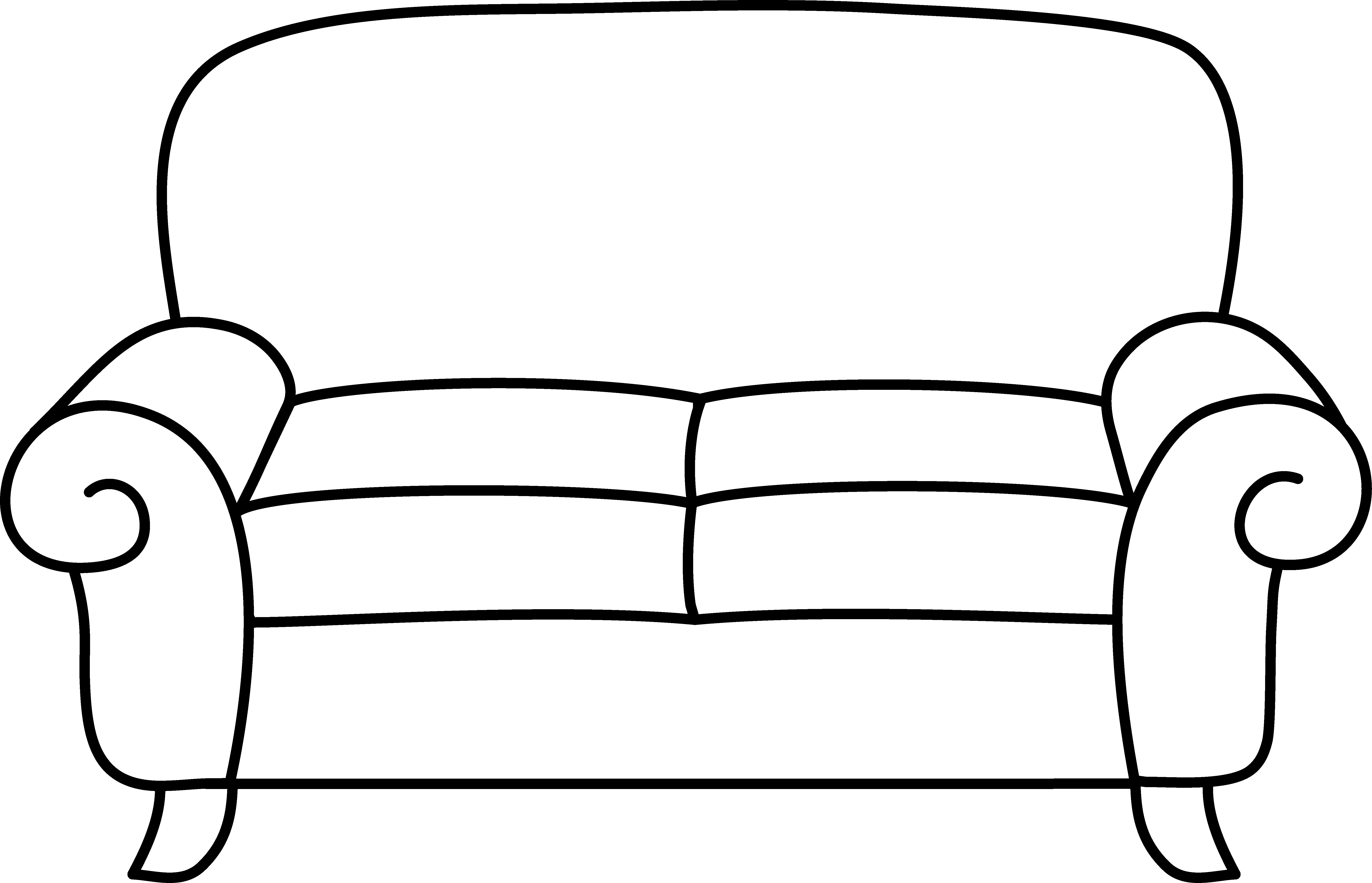 Sofa Coloring Page.